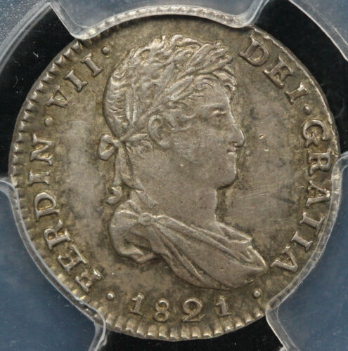 1821- MO JJ CALICO -1181 Mexico Real PCGS SECURE SHIELD MS 63