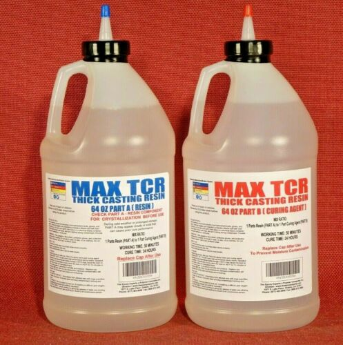 ACRYLIC WATER EPOXY 4 WATER CLEAR FLORAL ARRANGING & WATER SIMULATION BULK 1gal*
