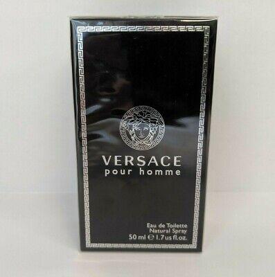 New Versace Men's Pour Homme Eau de Toilette Natural Spray 1.7 fl.oz/50ml -BBL82