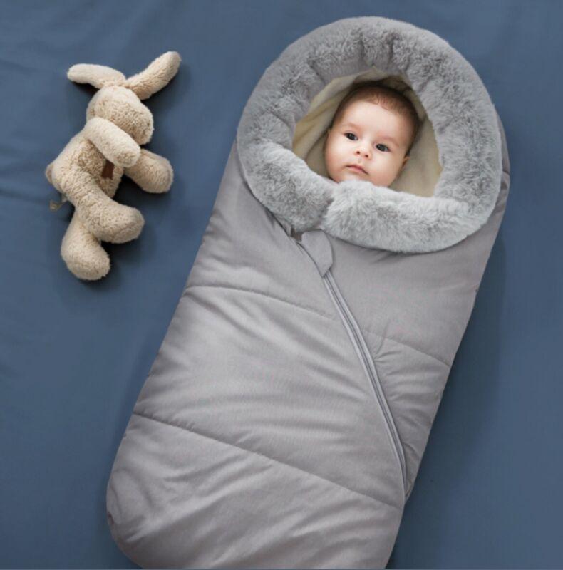 Baby Stroller Sleeping Bag, Warm Thicken Wind Proof, Newborn Infant Winter Cotto
