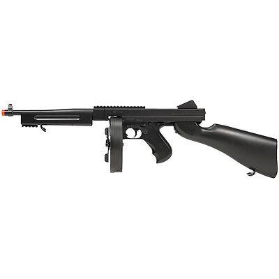 330 FPS FULL AUTO THOMPSON AIRSOFT M1A1 ELECTRIC AEG RIFLE TOMMY GUN w/ 6mm -