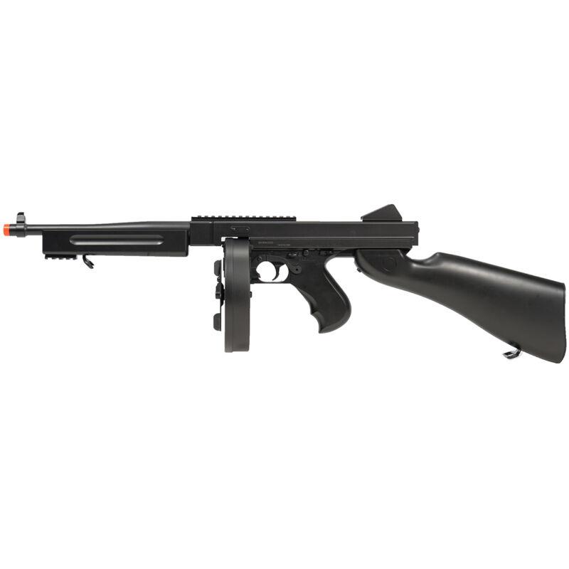 330 FPS FULL AUTO THOMPSON AIRSOFT M1A1 ELECTRIC AEG RIFLE TOMMY GUN w/ 6mm BB