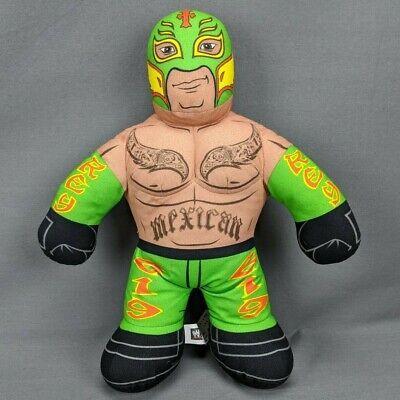 """Mattel WWE Brawlin' Buddies Rey Mysterio Talking Mexican Plush Doll 16"""" Toy"""
