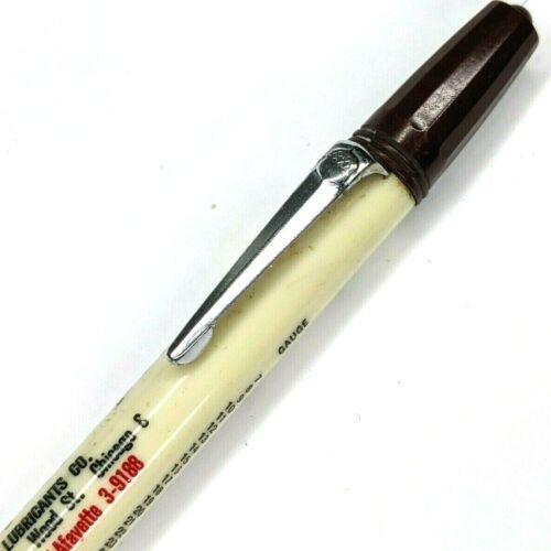 c1940s US Gauge Conversion Advertising Acorn Pencil Metal Lubricants Chicago G20
