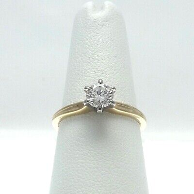 14K Gold .55ct Solitaire Diamond Jabel Engagement Rings Sz 7 for sale  Albany
