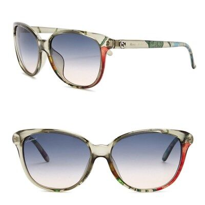 GUCCI GG3635 CAT EYE 57mm Green Floral Optyl Sunglasses with Case (NewGenuine)  (Gucci Floral Sunglasses)