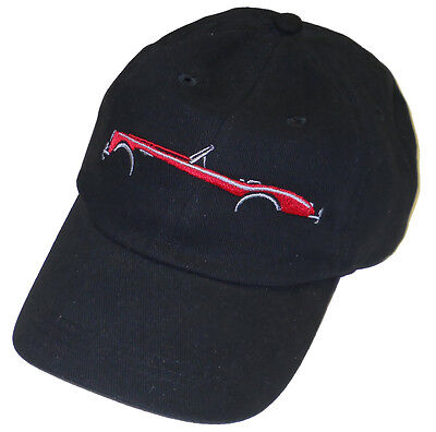 Austin-Healey silhouette side view embroidered hat