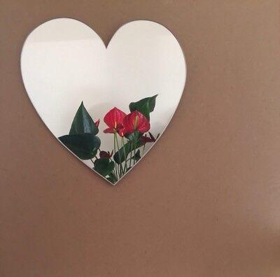 Heart Shaped Acrylic Mirror 25cm