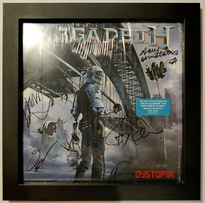 MEGADETH – Dystopia – 1st press vinyl – FULLY SIGNED by the...