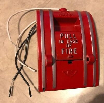 Edwards Signaling 270a-spo Fire Alarm Pull Station Noncoded Fire Alarm Box