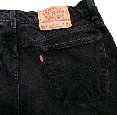 Vintage USA Levi's 521 Tapered Faded Black High Rise Mom Jeans Size 18 Women's comprar usado  Enviando para Brazil
