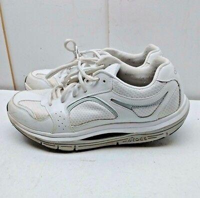 Abeo Rocs Ashlin White Leather Athletic Toning Fitness Walking Women's Shoe 10M , used for sale  Powder Springs