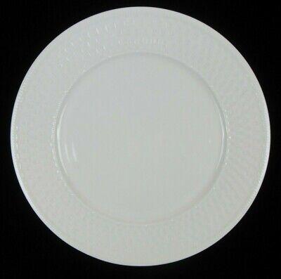"Oneida Sakura Basket Weave Pattern 12"" Round Chop Plate Platter White"
