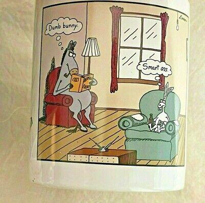 Vintage 1998 THE FAR SIDE Coffee Mug Green Inside Dumb Bunny Smart Ass - NIB