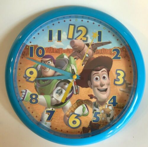 """DISNEY*PIXAR ~ TOY STORY ~ BUZZ & WOODY BATTERY OPPERATED WALL CLOCK ~ 10"""""""
