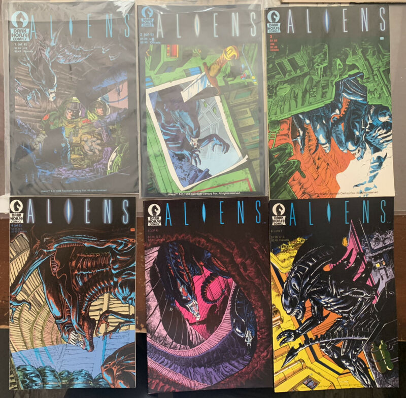 Aliens  #1-6 Complete Set 1st Print Dark Horse Comics 1988 NM-