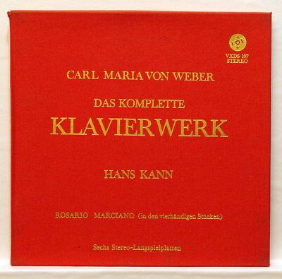 HANS KANN - WEBER the complete piano works VOX 6xLPs box EX++ (Kann Vinyl Box)