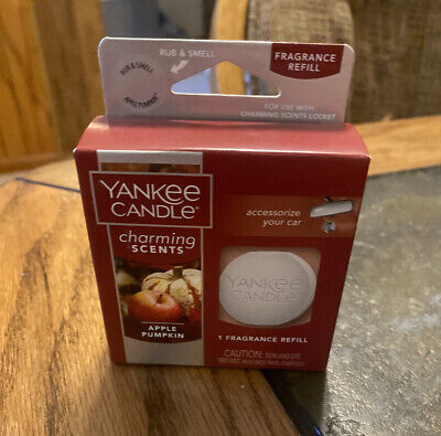 NEW!!! YANKEE CANDLE CHARMING SCENTS APPLE PUMPKIN CAR FRAGRANCE REFILL