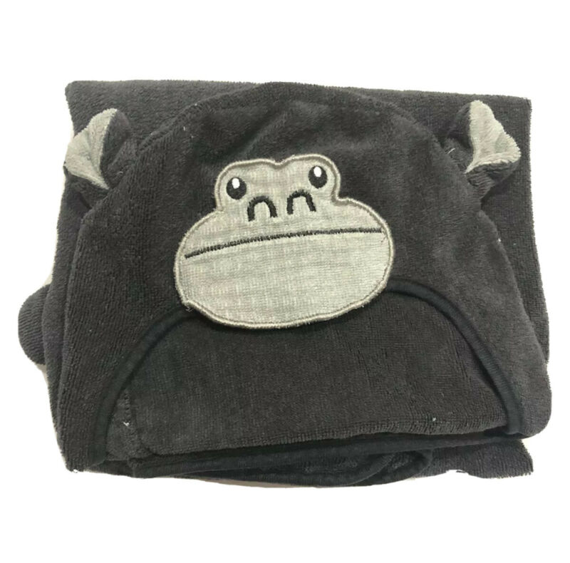 Pillow fort Hooded Bath Towel Black Monkey with Banana