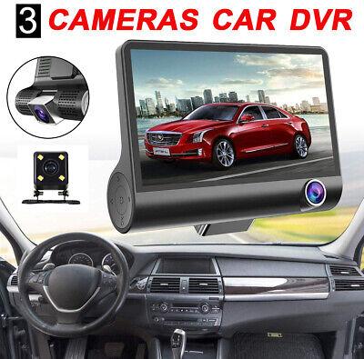 Full HD Dual Lens Car DVR Dash Cam Front&Rear Mirror Camera Video Recorder 4''