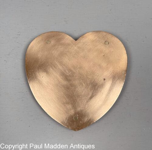 Antique Heart Shaped Brass Trivet