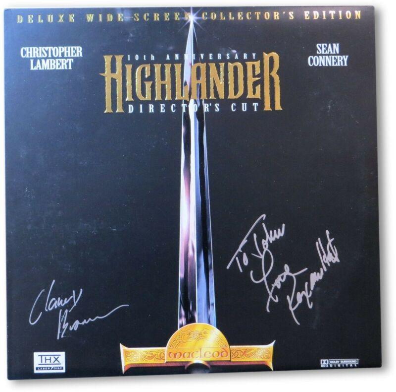 Clancy Brown Roxanne Hart Signed Autographed Laserdisc Highlander JSA II23297