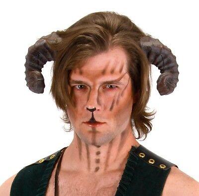 Adult Mens Realistic Satyr Goat Ram Animal Greek Mythology Cosplay Costume Horns