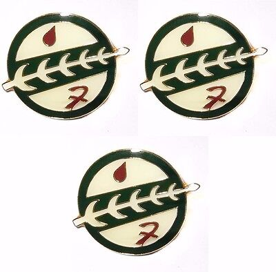 Star Wars Series Boba Fett Family Crest Metal Enamel Costume Pin Set of 3