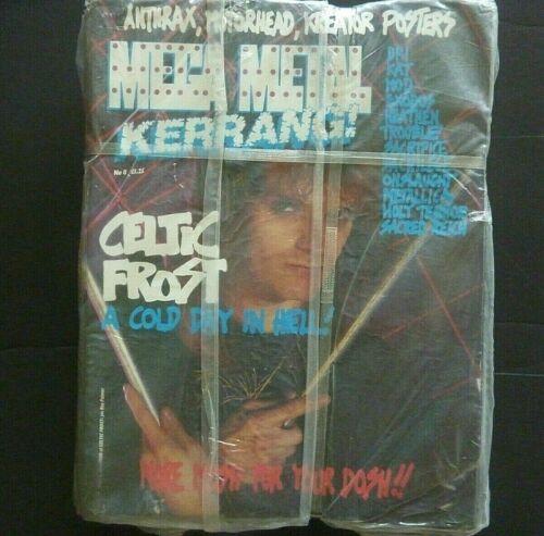 SEALED 50 LOT STACK CELTIC FROST METALLICA 1987 VINTAGE METAL KERRANG MAGAZINES