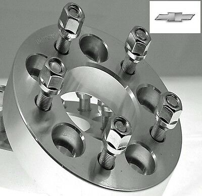 2 Pc CHEVROLET 5x4.75 Billet Wheel Adapters Spacers 1.00 Inch # AP-5475A1215