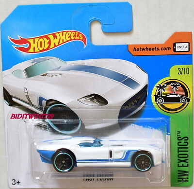 HOT WHEELS 2017 HW EXOTICS FAST FELION WHITE SHORT CARD