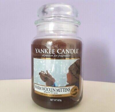 Yankee Candle WARM WOOLEN MITTENS Giara grande fragranza rara NUOVA