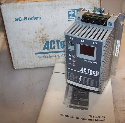 New Ac Tech .5 Hp Vfd Variable Speed Ac Motor Drive 480 Vac Model Sf405