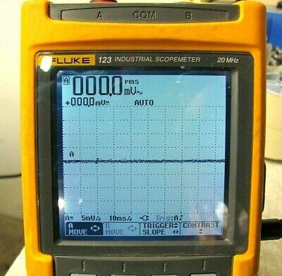 Fluke 123 Industrial Scopemeter Handheld Oscilloscope 20mhz Free Ship