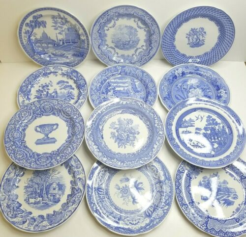 "12 Spode Blue Room Collection VARIETY 10 3/8"" Decorative Collectible Decor Plate"