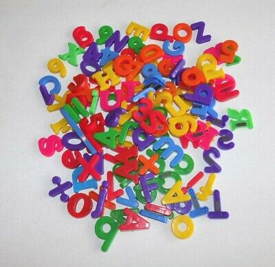 Magnetic Letters Numbers Alphabet Fridge Magnets  Lot of 127
