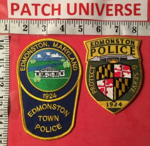LOT OF TWO DIFFERENT EDMONSTON  MD POLICE  SHOULDER PATCHES  A105
