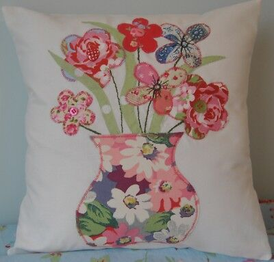 New Vase flowers Cath Kidston fabric painted daisy applique cushion KIT sew easy
