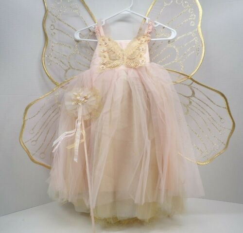 Pottery Barn Kids Butterfly Fairy Halloween Costume 4-6 Years 4 pcs Pink #9619