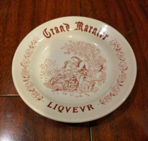 Vintage GRAND MARNIER LIQUEUR FRANCE DISH ASHTRAY PINK ENGLAND