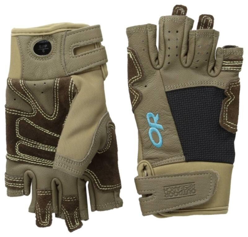 Outdoor Research Women Seamseeker Medium Gloves Cafe/Earth/Rio for Climbing