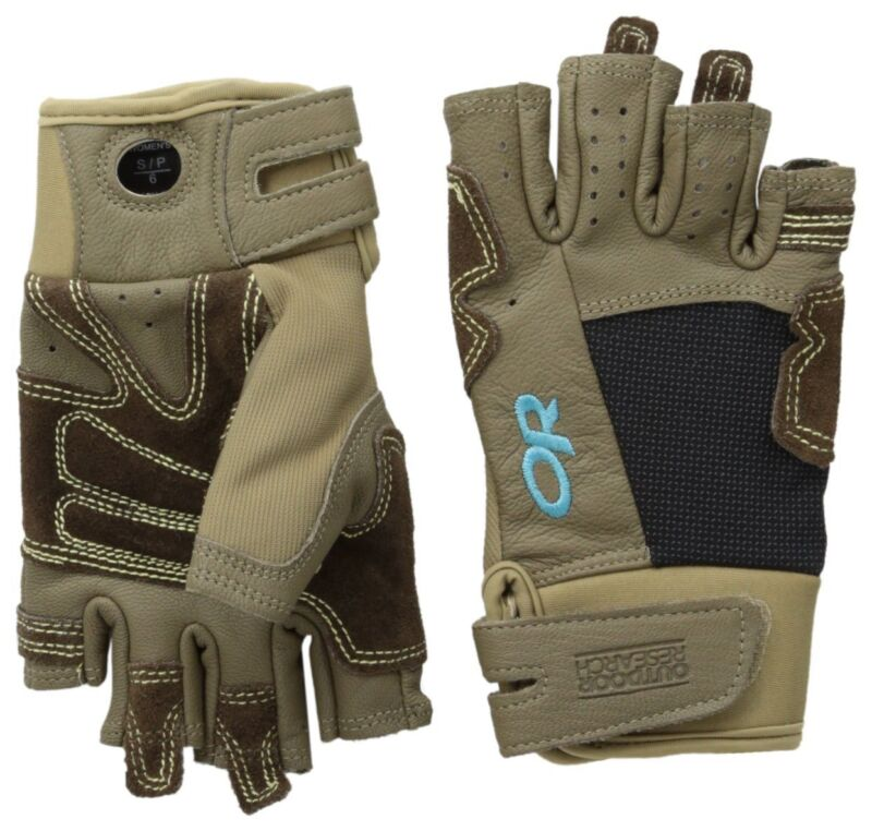 Outdoor Research Women Seamseeker Large Gloves Cafe/Earth/Rio for Climbing