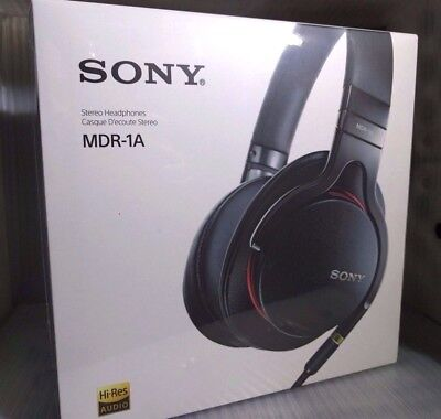Sony MDR-1A Premium Hi-Res Stereo Over-Ear Headphones - Black ✔NEW✔