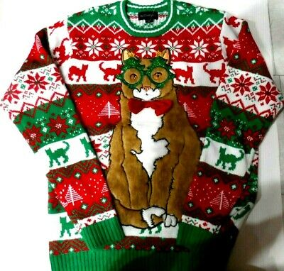 Blizzard Bay Ugly Sweater Christmas Cat  Sz. Med. NWT...see photos ()