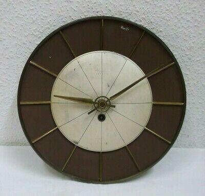 50er 60er  Designer Wanduhr Kienzle Uhr mechanisch mit Schlüssel Metall 50s 60s