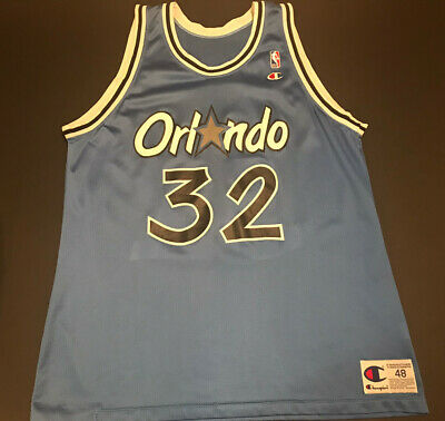 Orlando Magic Shaq Shaquille O'Neal #32 NBA Basketball Champion Jersey Sz 48 Vtg