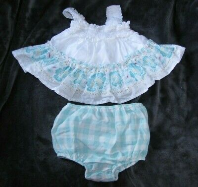 BABY GAP RUFFLY SWING TANK TOP GINGHAM PLAID BLOOMERS DIAPER COVER OUTFIT (Gingham Bloomers)