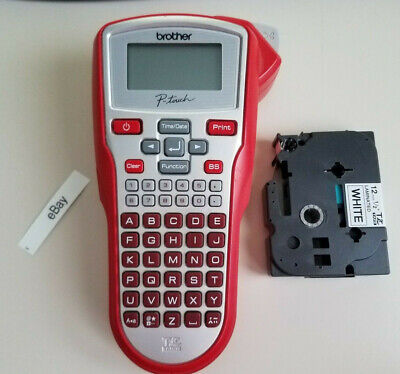 Brother P-touch Thermal Label Printer Pt-1010 Red W Label Tape Tz Tape