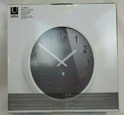 Umbra Clairo Wall Clock Round White Charcoal Gray Jordan Murphy