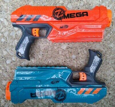 Nerf Zombie Strike Mega Magnus Blaster Pistol Dart Gun Lot Of 2